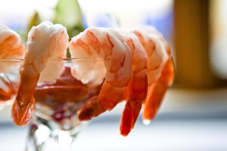 Iced Jumbo Shrimp cocktail Jumbo Pesto Shrimp on Stix