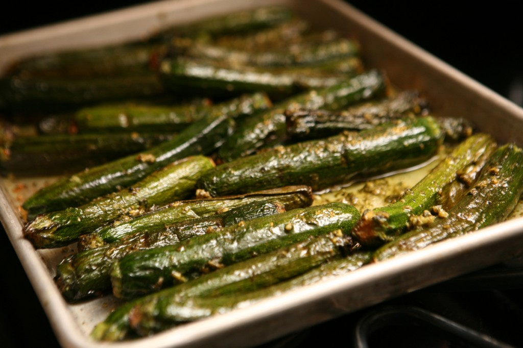 Garlic Roasted Seared Asparagus